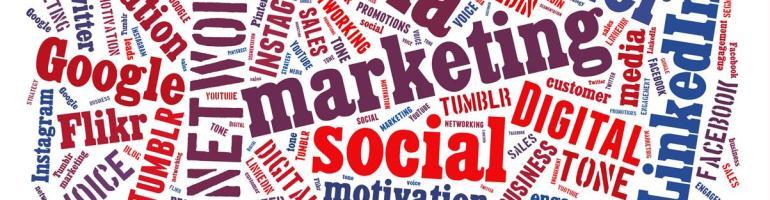 social media word art