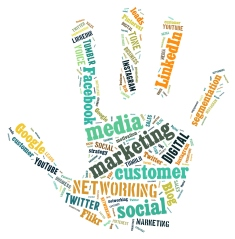 social media hand print